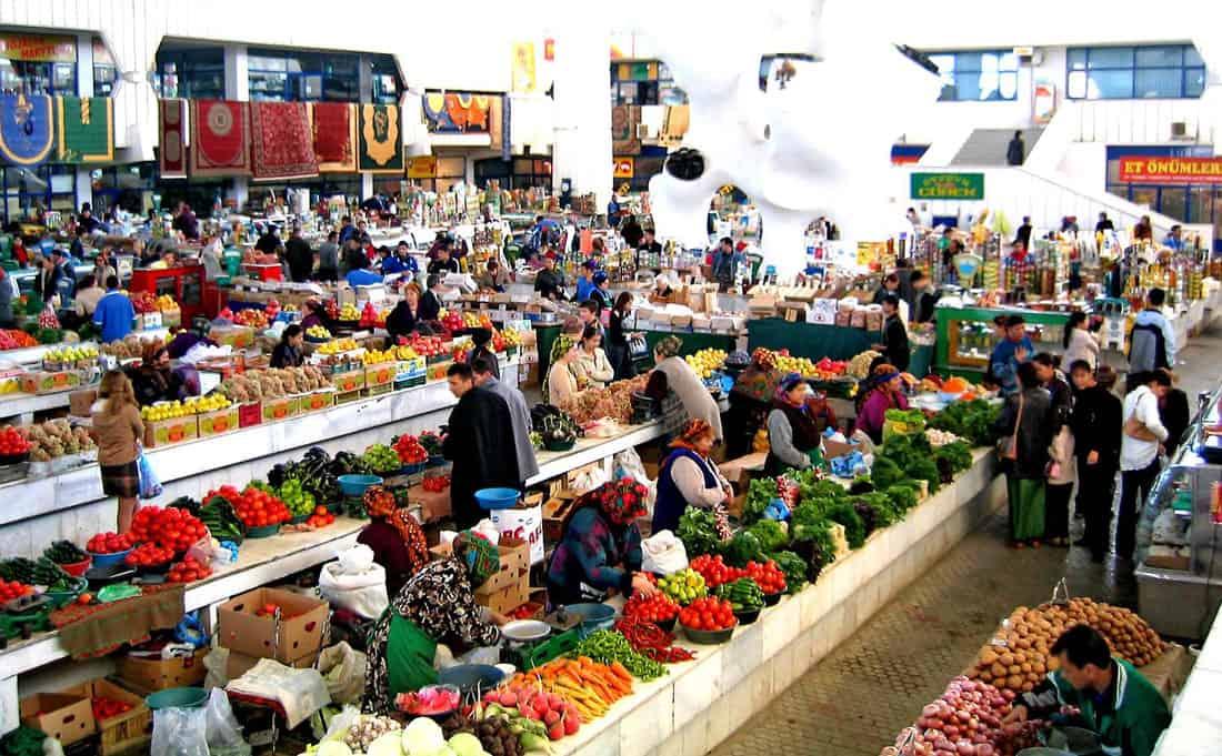 A market in Ashgabat, Turkmenistan.  Photo: CIA Factbook.