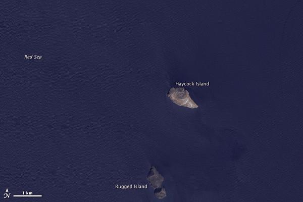 Zubair Islands on October 24, 2007. Source: NASA's EO-1 - ALI.
