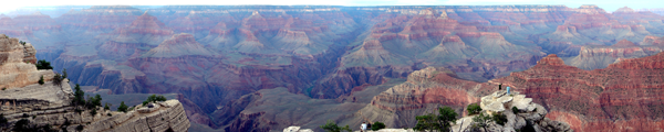 Panoramic view of the Grand Canyon taken August 2006 by Martin St-Amant.