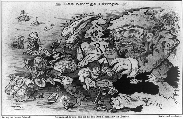 Das Heutige Europa (Europe Today).  By Caesar Schmidt, 1887.
