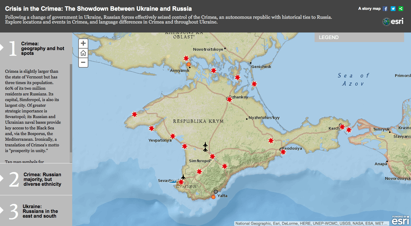 Interactive Map Provides Geographic Look at Ukraine and Crimea