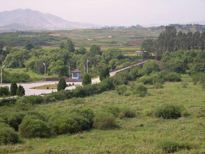 """""""Bridge of no return"""" in Panmunjeom (border between South Korea and North Korea)."""