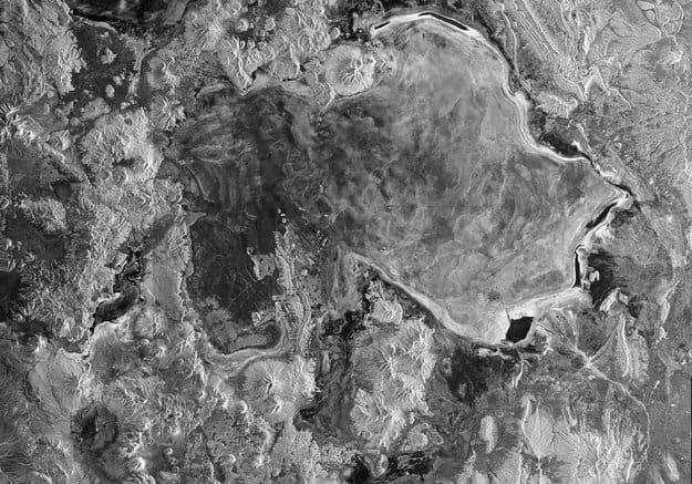 Radar image of the Salar de Uyuni, Bolivia. Source: ESA.