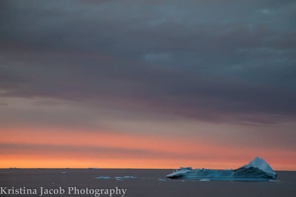 Icebergs float in the Southern Ocean, Antarctica. Photo: Kristina Jacob. Used with permission.