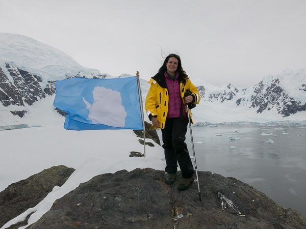 Kristina at Paradise Bay, Antarctica.