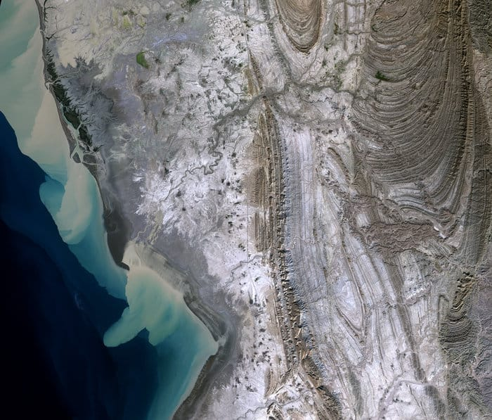 This image over a remote area in southern Iran was acquired by Japan's ALOS satellite on 10 December 2009. Source: JAXA/ESA.