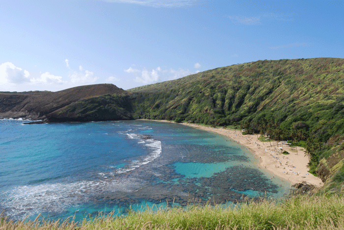 Hanauma Bay, Hawaii.