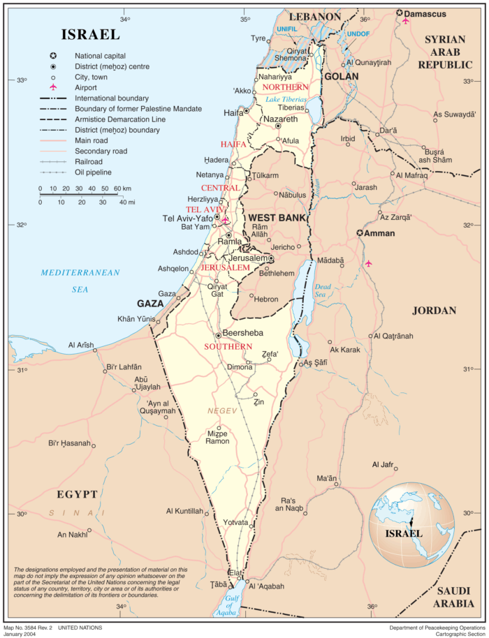 Maps of Israel - Geography Realm