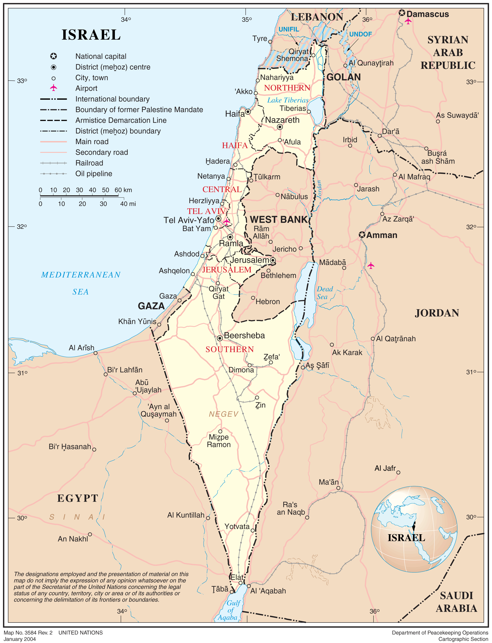 Maps of Israel Geolounge – Israel Tourist Map