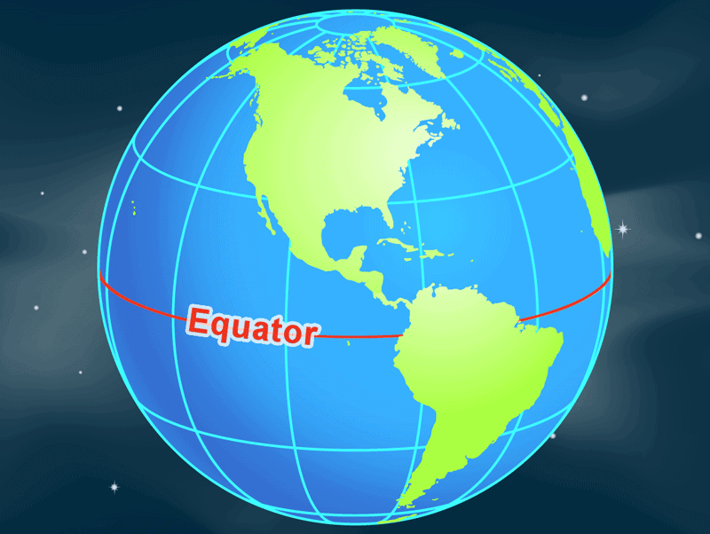 The Equator is the line of zero degrees latitude around the middle of Earth. Image: NASA, public domain.