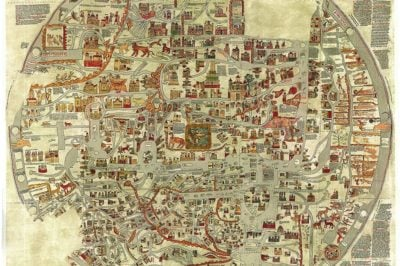 Destroyed during World War II, the Ebstorf Map was the largest example of a complex Mappa Mundi.