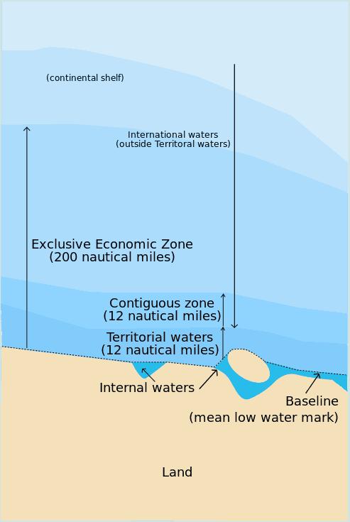 Map of maritime zones.