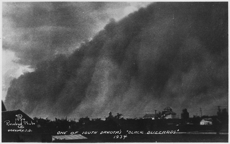 "Dust Storms; ""One of South Dakota's Black Blizzards, 1934"""