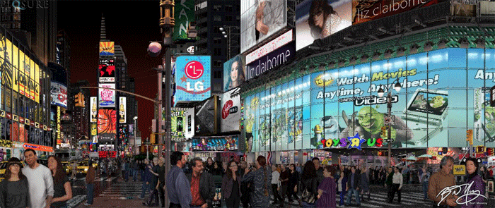 Times Square by Bert Monroy.