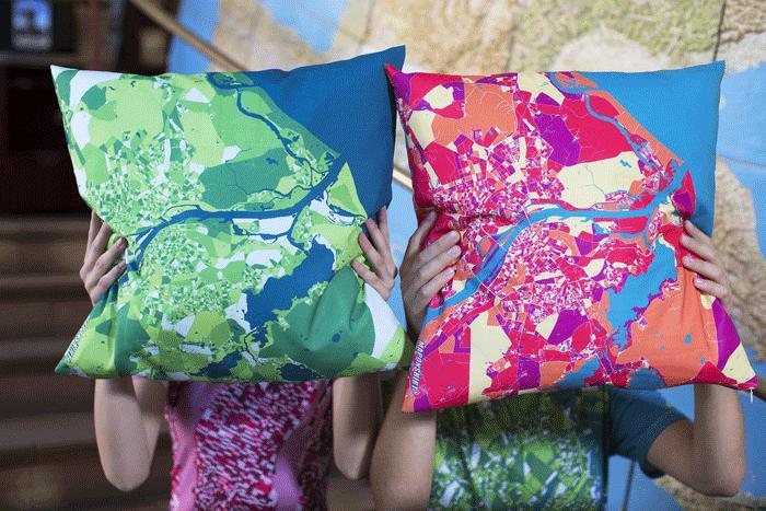 Custom pillows from MapOnShirt.com.