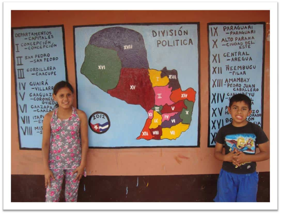 Map that Devon Reeser helped school-aged children in Paraguay create.