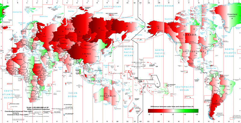 Geography of Time Zones – Geography Realm