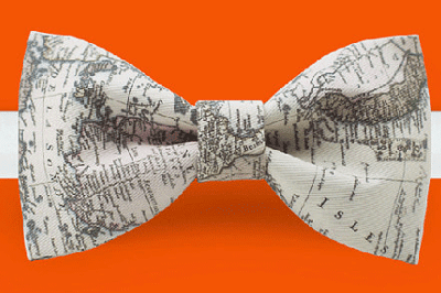 For the dapper geographer in your life, try this map bow tie from Etsy.