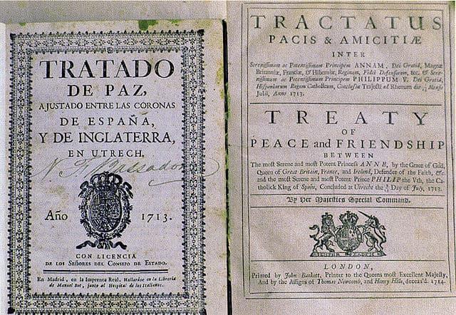 The Treaty of Utrecht. Image: Wikipedia Commons.