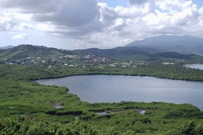 Laguna Grande is a 50-hectare salt-water lagoon located in the municipio of Fajardo, in the eastern-most tip of Puerto Rico. Photo: USGS.