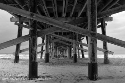 """According to Ramirez, the lack of center posts underneath Newport Pier makes it a """"photographer's dream."""""""