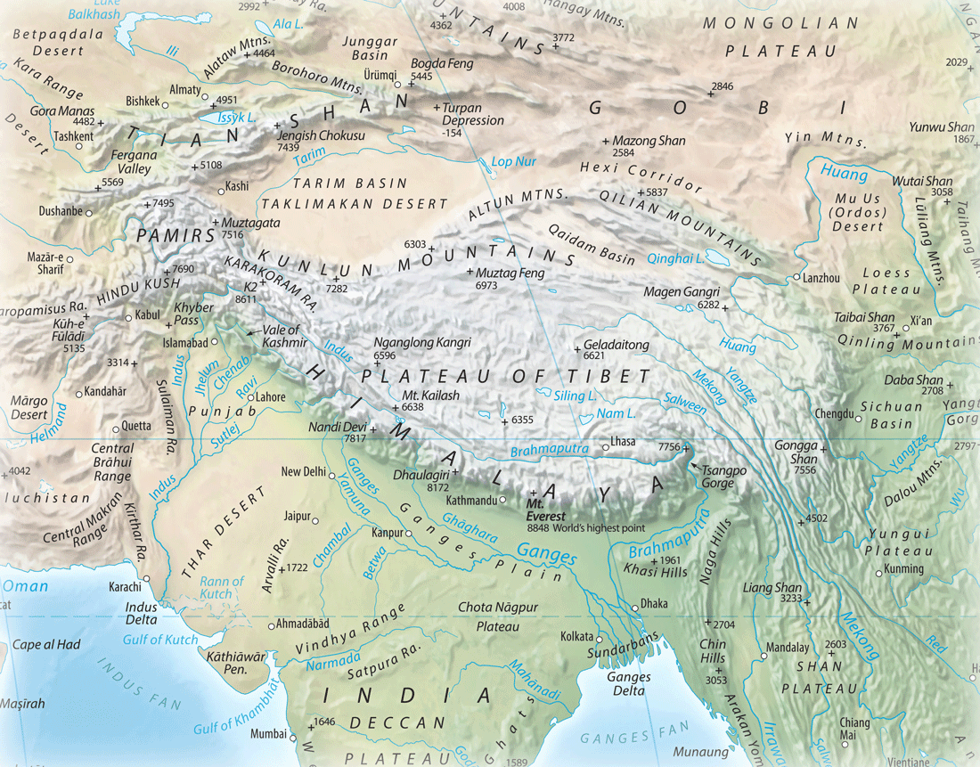 Picture of: Where Are The Himalayas Geography Realm