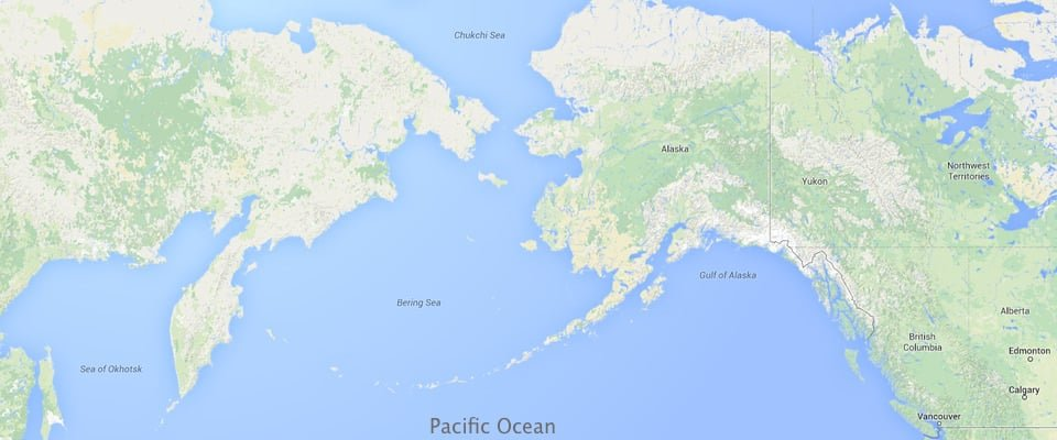 Map showing the location of various seas in the northern Pacific Ocean. Map: NOAA, public domain