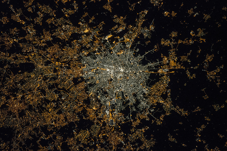 Astronauts onboard the International Space Station (ISS) captured this picture of light pollution emanating from the Italian city of Milan in 2015.
