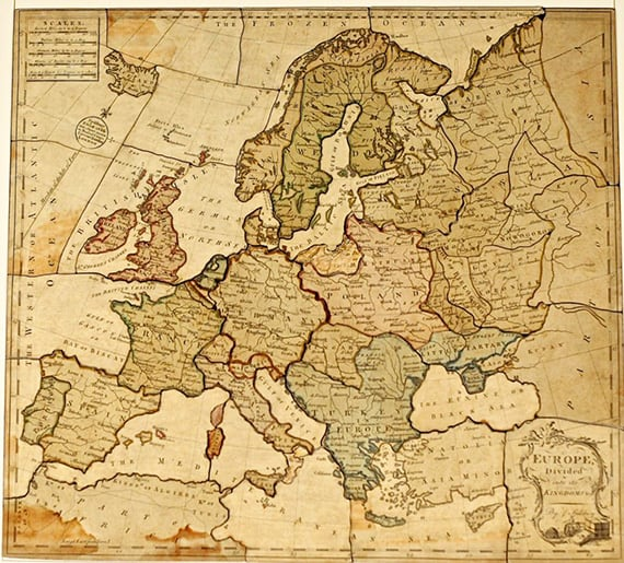 dissected maps the first jigsaw puzzles geolounge all things