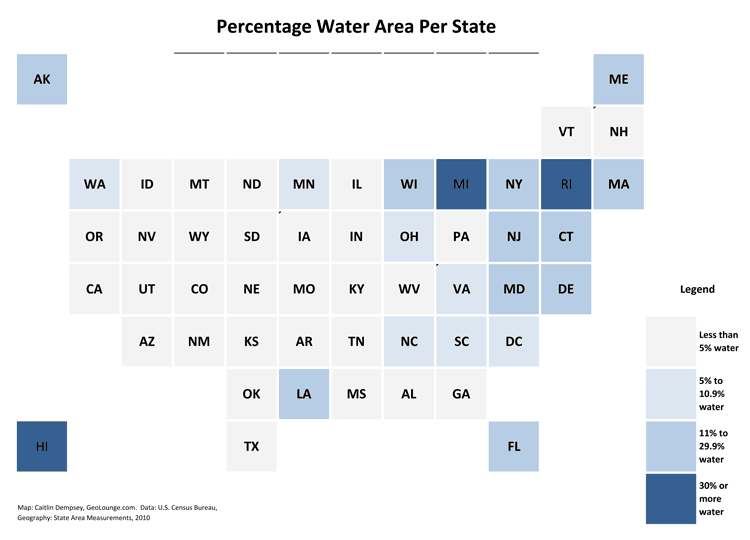 Which States Have the Highest Percentage of Water Area? – Geography