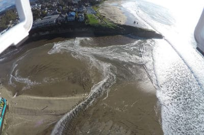 Drone image of the San Lorenzo River captured by Matt Merrifield.