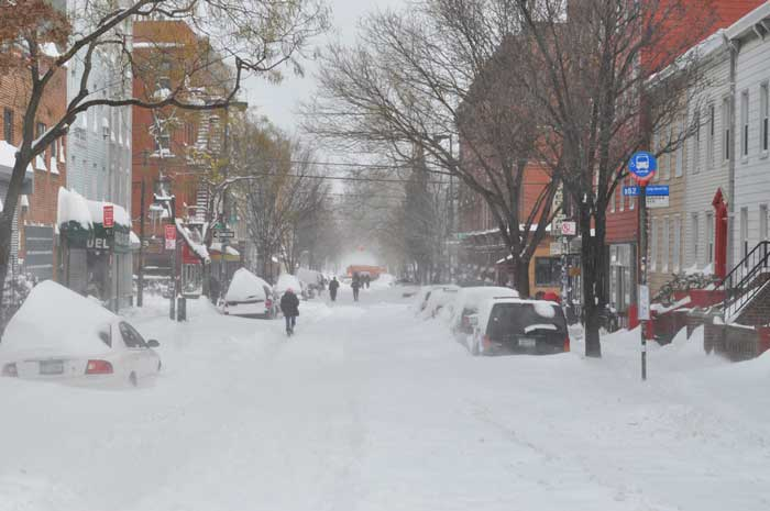 After a blizzard in Williamsburg, Brooklyn on December 27, 2010.  Photo: Jason .