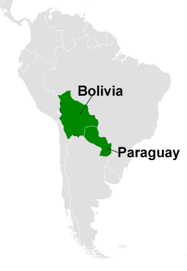 Landlocked Countries In South America GeoLounge All Things - Map of paraguay world