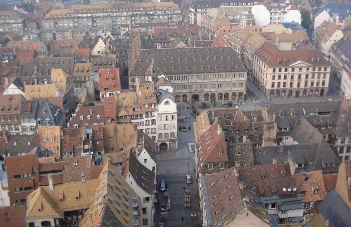 A view of Strasbourg from the Cathedral.