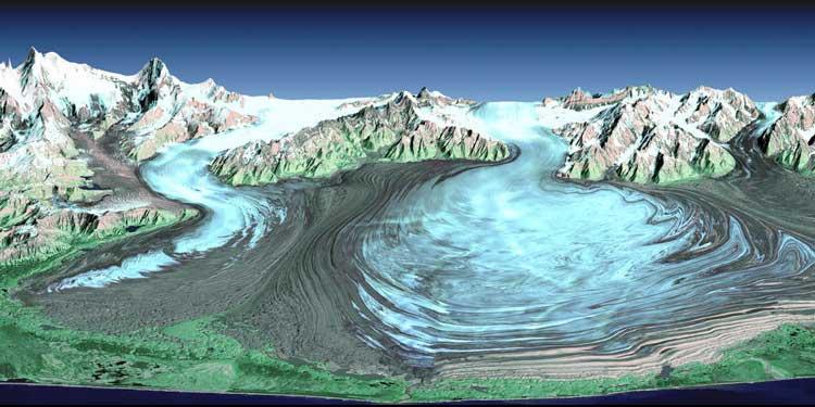 Malaspina Glacier. Source: NASA.