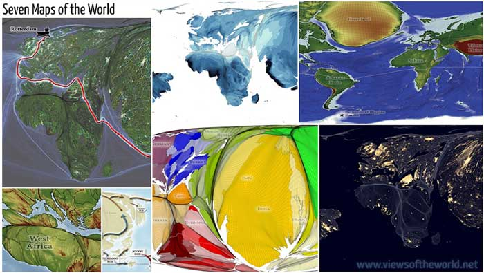 Seven maps of the world, Benjamin Hennig.