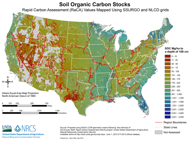 Storing Carbon In The Soil Through Regenerative Farming - Agriculture by state us map