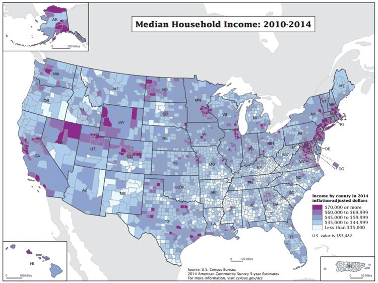 Map: American Community Survey, US Census