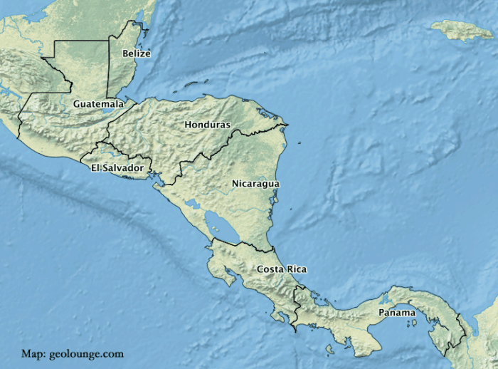 Geography Mnemonic to Learn the Countries of Central America ...
