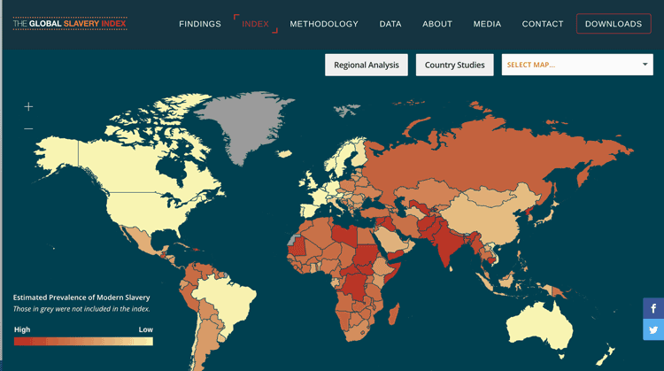 Geography And Modern Slavery GeoLounge All Things Geography - Interactive global map