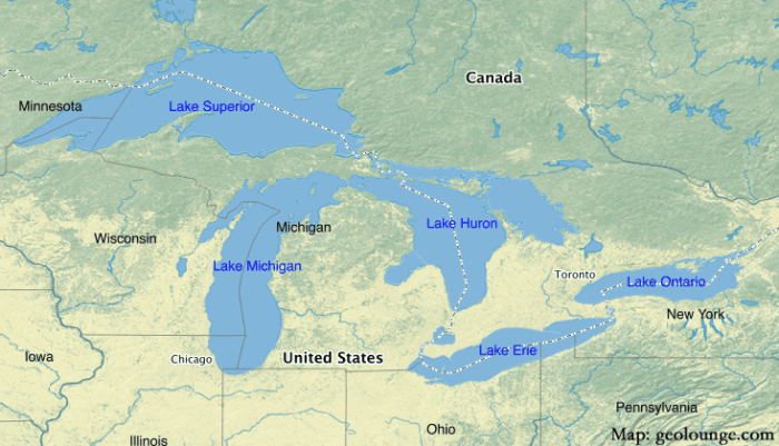Geography Mnemonics To Help Learn About The Great Lakes Geolounge - Great-lakes-on-the-us-map