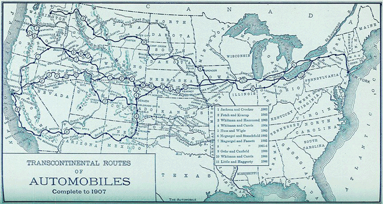 This Map Shows That By Only Car Trips Across The United - Us map with route numbers