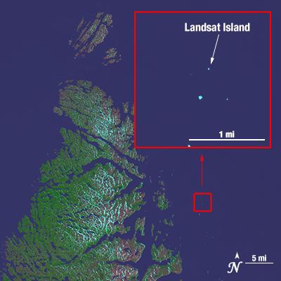 Landsat Island captured by Landsat 8 in 2014. Image: NASA.