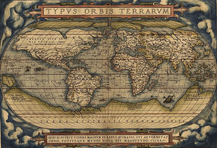 World map from Theatrum Orbis Terrarium, 1570.