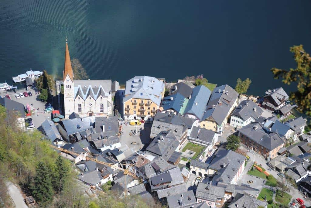 Austria may be home to some very picturesque lakes and rivers but it is a landlocked country with no direct access to an ocean.  Picture of Hallstatt, a small town in Upper Austria that sits along the Hallstaetter See.  Picture: CIA, public domain