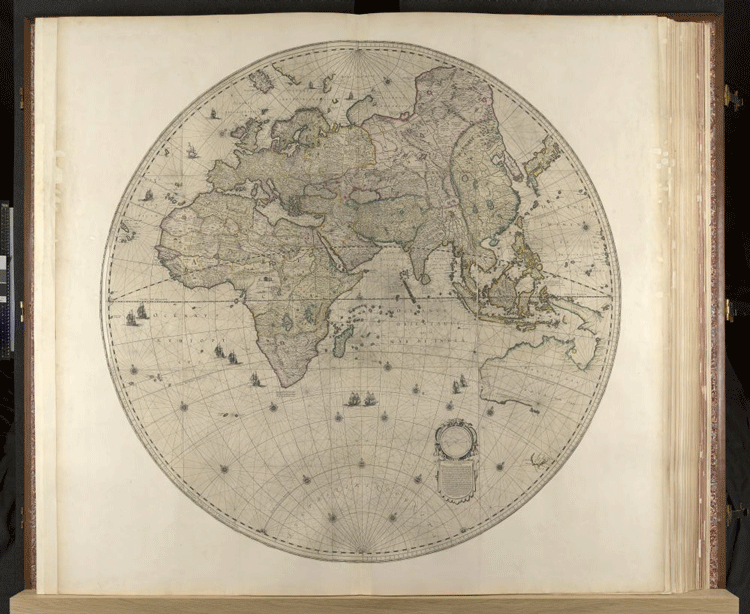 One of the largest atlases in the world is accessible online map of europe asia and africa from the klencke atlas 1660 gumiabroncs Choice Image