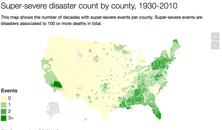 A Look At Years Of Natural Disasters By County In The United - Us natural disaster map