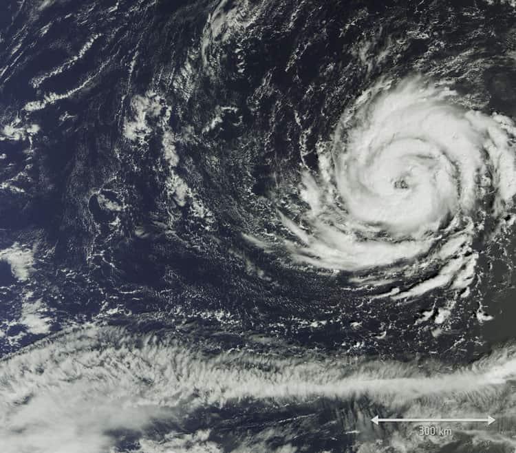 Hurricane Ophelia on October 11, 2017. Image: European Space Agency.