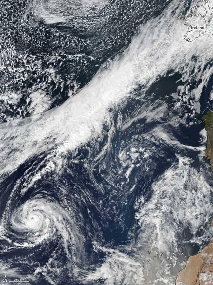 Hurricane Ophelia on October 13, 2017. Image: NASA.