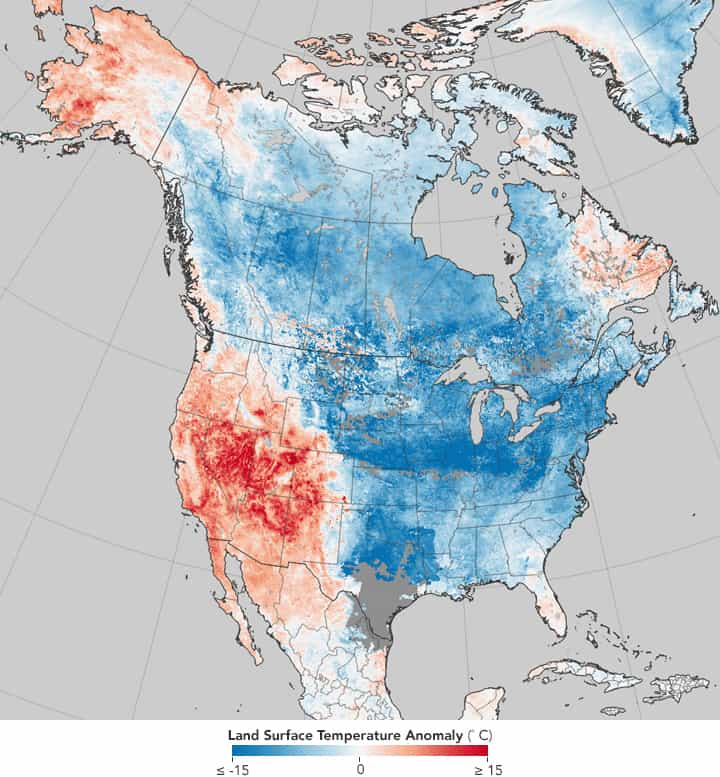 Map of Cold and Hot Temperature Anomalies Across the World ...